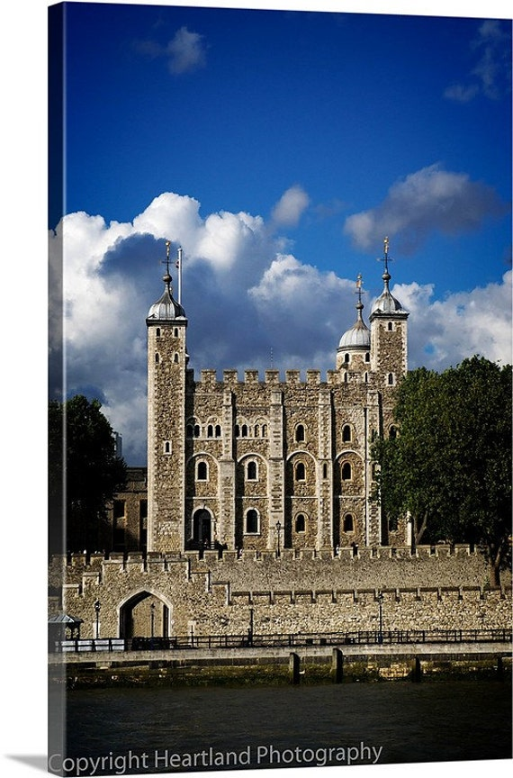 Large London Canvas, Tower of London, Oversized Wall Art, England Photography, Ancient Architecture, Thames River Photo, Landscape Image
