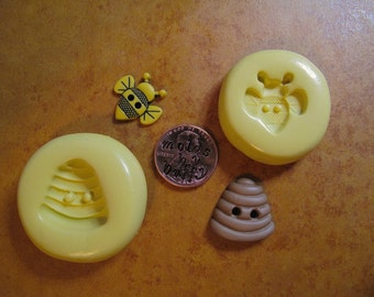 Honey BEE silicone mold, Bee HIVE silicone flexible mold, resin mold, pmc mold, jewelry mold, polymer clay mold, fondant mold