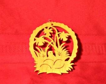 Wood Easter Ornament, Handmade Decor for Easter Egg Tree or Easter Basket, Spring Ornaments or Decor, Easter Lily, Religious Scrollsaw Art