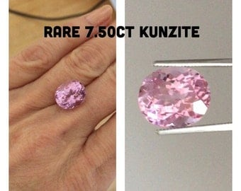 GENUINE Kunzite Gem 7.50ct Oval Purple Pink AAAAA+ Quality 12.5x11mm x 8.5mm Deep For your Custom Engagement Wedding Ring