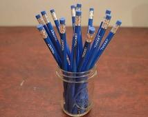 Custom Pencils, set of 12 Custom Pencils, Gold Foil Pencils, Personalized Pencils, Engraved Pencils, Wedding Favor, Teacher, Cross Word