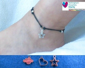 TFIOS cord anklet with the charm of your choice.