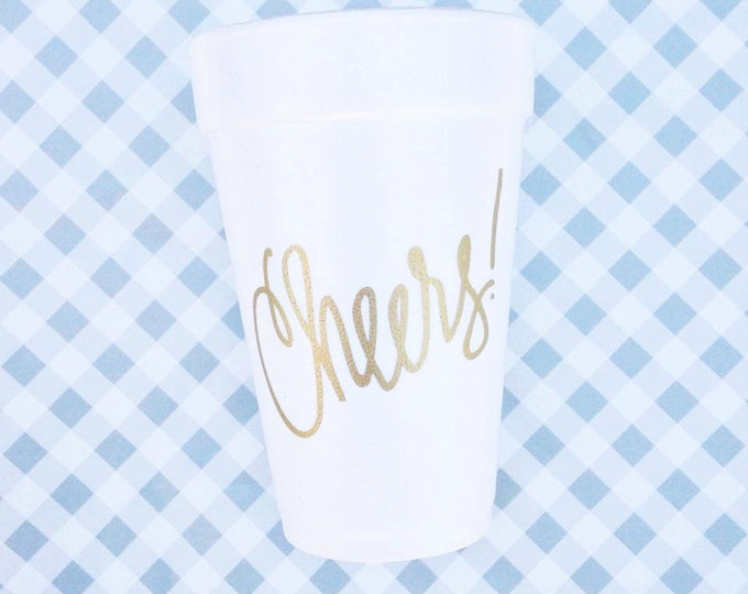 Featured listing image: Cheers Foam Cups (Qty 24)