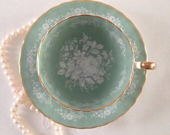 Sage Aynsley China Tea Cup & Saucer