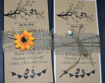 Rustic Invitations Wedding