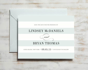 Classic Stripe Save the Date | Save the Date Card