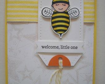 Baby bumblebee - Congratulations card