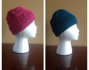 Ladies crocheted beanies