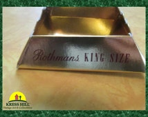 Retro Rothman's Novelty Collectible King Size Cardboard Folding Disposable Ashtray, Mint Condition!
