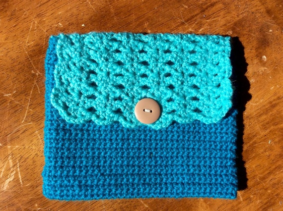 Crochet Clutch Purse- Cosmetic Bag
