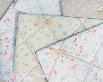 Fabric 40 x 60cm Handmade Memo Board - Notice Board - Kitchen - Office - Bedroom - Made in England