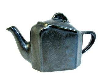 Black Lusterware Teapot