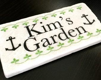 "Custom Garden Stone, 3""x6"", Garden Decor, Tomatoes, Vegetables, Plant Markers, Gardening, Flowers, Gift Idea, Mother's Day, Housewarming"