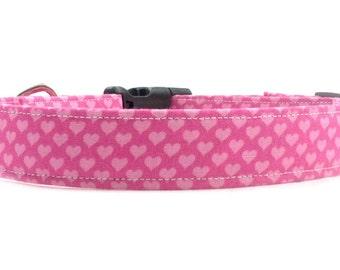 Pink Hearts Valentine's Day Dog Collar