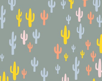 Morning Walk - Cacti Field Festival - Leah Duncan - Art Gallery Fabrics (MWK-1112)