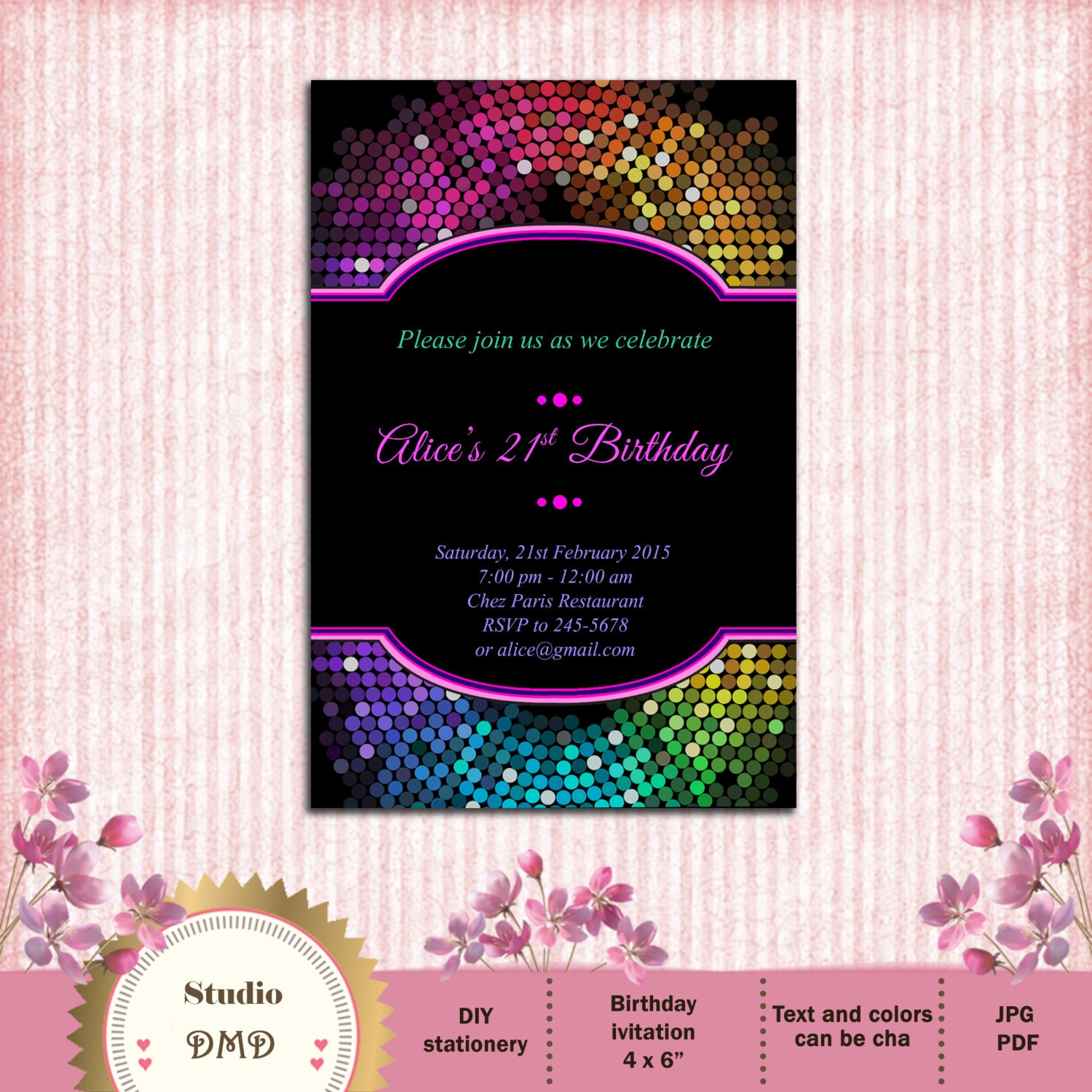 13th birthday invite – Invitations for 13th Birthday Party