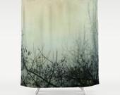 Shower Curtain Bathroom home decor, tree, woodland curtain, dark curtain, mystical gift, dark tree branches gray black curtain