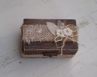 Rustic Ring Bearer Box-Wooden ring box- Wooden Engagement Ring Box-Proposal ring box
