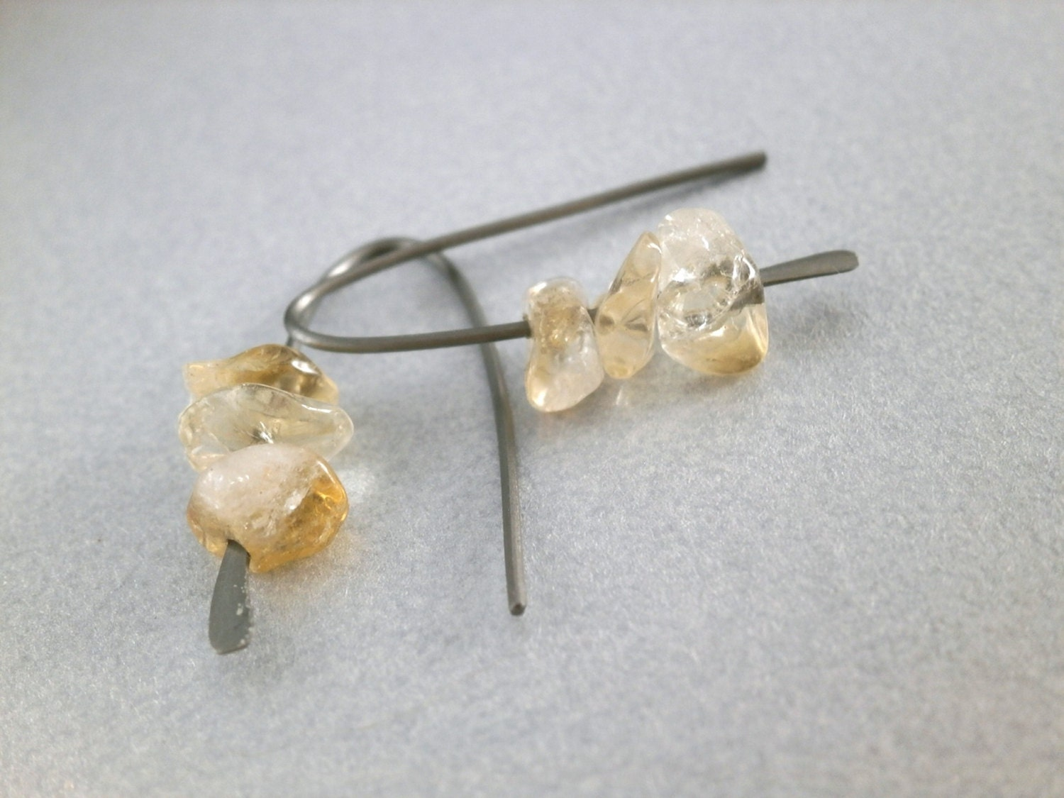 grade titanium earrings citrine earrings grade 1 titanium earring modern 7490