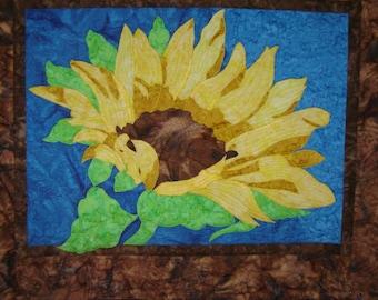 Batik Quilt Sunflower Wallhanging