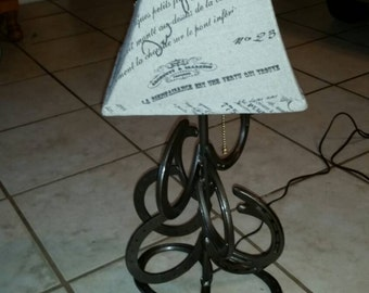 Horse Shoe Table Lamp
