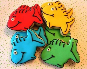 Dr. Seuss Fish Cookies 1 Dozen (Individually Bagged)