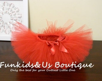 Baby Tutu - Red Tutu Skirt- Red Christmas Tutu- Valentine's Tutu  skirt- Newborn to young teen