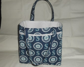 Seattle Mariners Tote Bag - Handmade Fully Lined w/Pockets