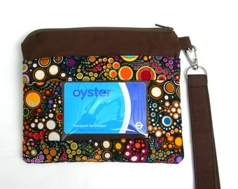 ID wallet, id purse, ID holder, zippered ID pouch, student id wallet, Oyster card holder, travel card holder, pouch, zippered wristlet.