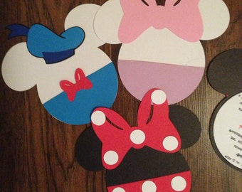 Mickey and friends party invitations