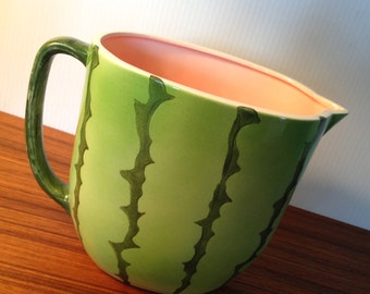 Vintage watermelon ceramic serving pitcher