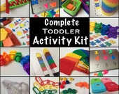 Busy Bags - Educational Activities for Toddlers and Preschoolers  - Tot Trays - Learning Games