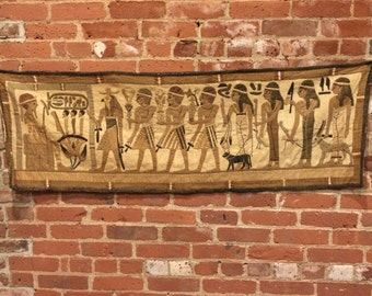 Antique Egyptian Tapestry Wall Hanging - Large