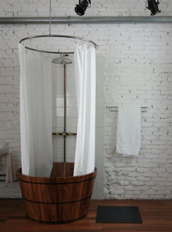hemp linen shower curtain for tub shower by cedarsandsage