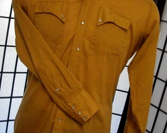 Rockmount Ranch Wear Tru-West Denver CO 1950's men's western pearl snap shirt medium large