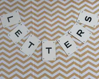 Vintage Letter Playing Cards for Scrapbooking, Signs & Framing * DIY Wedding * Kan U Go