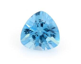 Blue Topaz Trillion Cut Loose Gemstone 1A Quality 7mm TGW 1.30 cts.