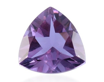 Lavender Alexite Synthetic Color Change Loose Gemstone Trillion Cut 1A Quality 8mm TGW 1.60 cts.