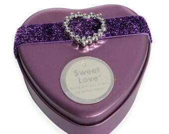Gift Ring Box Purple Heart