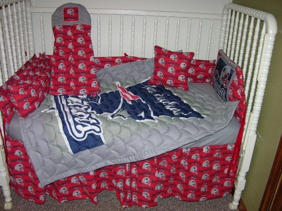 New England Patriots Crib Bedding by CutiePatootieBedding