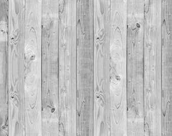 Grey Wood Floor with Top Pole - Vinyl Photography Backdrop and Floor Drop