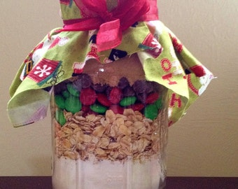 Holiday Cookie Mix in a Mason Jar
