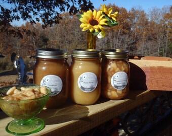 Applesauce, 3 Chunky Cinnamon Applesauce all snuggled in a Cedar Box from the Ozarks*
