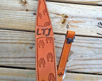 Custom Leather Rifle and Gun Sling Premium Quality Personalized Handmade