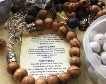 Jewelry/Bracelet/Holy/Bethlehem OliveWood Bracelet handmade by Catchy in USA