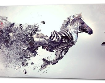 Zebra Abstract Art CANVAS PRINT Home Wall Decor Art Giclee Picture
