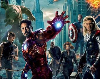 The Avengers CANVAS PRINT Home Wall Decor Art Movie