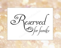 Popular items for reserved sign on etsy for Reserved seating signs template