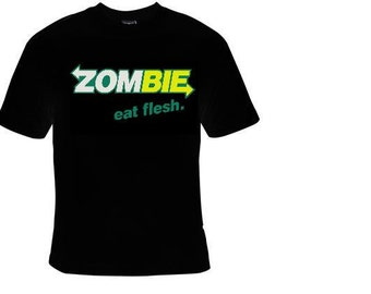zombie eat flesh  gift  tee shirt  zombies funny t-shirts