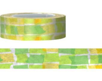 Washi Tape - 15M Japanese Washi Masking Tape (green paper) P116
